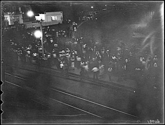 Christie Pits - The only known photograph of the Christie Pits riot