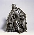 Christopher Columbus contemplating the globe. Bronze. Wellcome V0018437.jpg