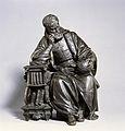 Christopher Columbus contemplating the globe. Bronze. Wellcome V0018437.jpg