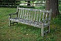 Church of St Andrew, Nuthurst, West Sussex churchyard bench 1.jpg