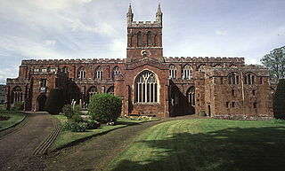 Crediton town in Devon, UK