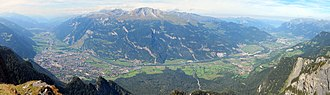 Alpine Rhine - Chur Rhine Valley with Chur