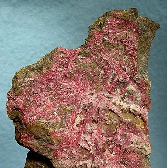 New Almaden - Cinnabar (mercury ore) specimen from New Almaden