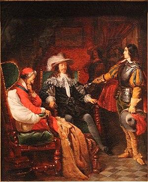 Claudius Jacquand - Image: Cinq Mars rendant son épée à Louis XIII Claudius Jacquand MBA Lyon 2014 (cropped)