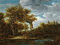Circle of Ruisdael or Meindert Hobbema- Wooded Landscape with Bentheim Castle 1857911.jpg