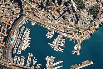 Circuit de Monaco - Satellite picture of the track in 2018
