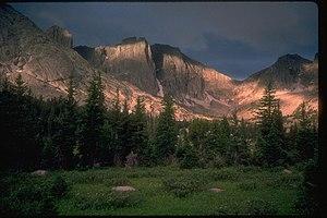 War Bonnet Peak - Image: Cirque of the Towers, Wind River Range (1229096839)