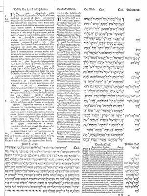 Complutensian Polyglot Bible - Image: Cisneros' original complutensian polyglot Bible 2