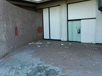 City Center Building - evidence of disuse at ground level