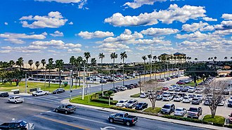 McAllen, Texas - The Cityscape of McAllen.  This view is on 2nd and Ridge Road in McAllen.