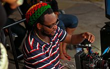 Clarence Peters on the set of music video in 2013 2014-04-21 13-33.jpg