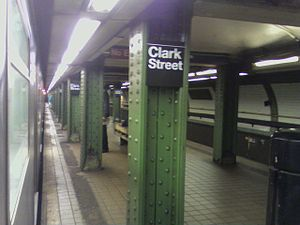 Clark Street (IRT Broadway–Seventh Avenue Line) - Image: Clark Street Brooklyn Heights