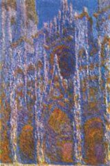 La Cathédrale de Rouen, le Portail, Soleil matinal ; Harmonie bleue