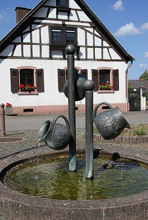 Clausen, Germany - Fountain of pots