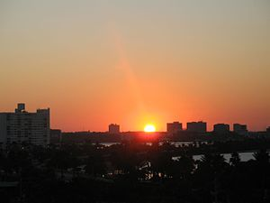 Clearwater, Florida - Clearwater at daybreak, as seen from Clearwater Beach