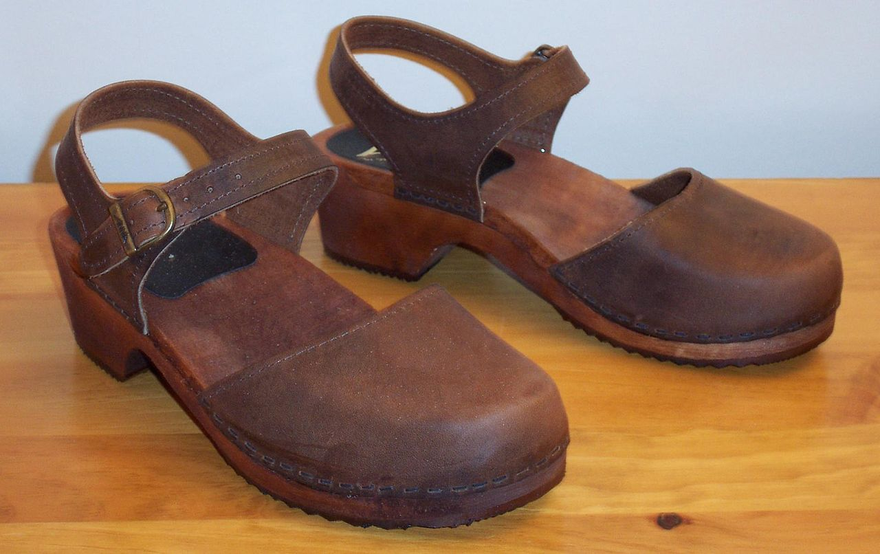 Leather Clog Style Shoes