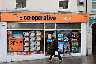 The Co-operative Travel - A branch of The Co-operative Travel in Omagh, Northern Ireland.