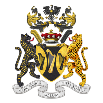 Christopher Guest - Coat of arms - Baron Haden-Guest, of Saling in the County of Essex