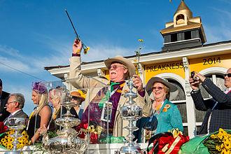 California Chrome - Steve and Carolyn Coburn (center), 2014 Preakness Stakes