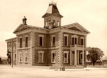 Cochise County Courthouse In Tombstone Arizona Before It Was Red Remained Vacant From 1931 Through 1955 When Redeveloped As A Museum