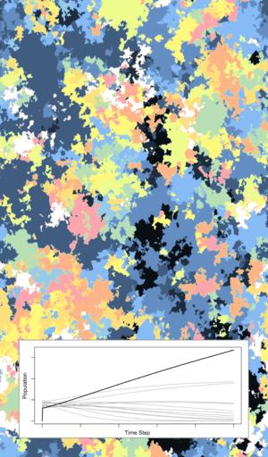 Microscale and macroscale models - Image: Coexistence Phalaris CA ODE 1400619436