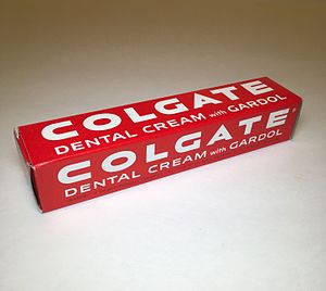 Colgate (toothpaste) - Colgate Dental Cream (Toothpaste) With Gardol - ca. 1950s