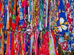 Colourful Skirts at Seychelles Market