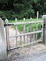 Commemorative gate leading to St James, Cardington - geograph.org.uk - 1445932.jpg