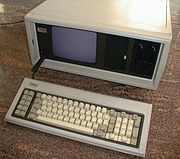 A Compaq luggable PC.