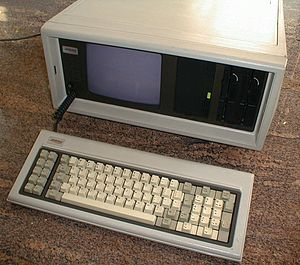 IBM PC compatible - The Compaq Portable was the first 100% IBM-compatible PC, and the first portable one.