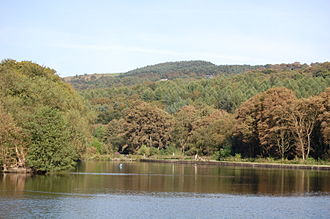 Etherow Country Park - The reservoir was built to supply the mill in Compstall, and is fed by the River Etherow