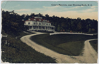 Flat Top Manor - Postcard of Flat Top Manor sent from Etta Cone, sister of owner Moses Cone, to her friend Gertrude Stein, 23 July 1911