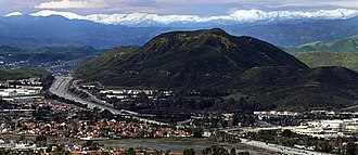 Topatopa Mountains - Image: Conejo Grade in Thousand Oaks