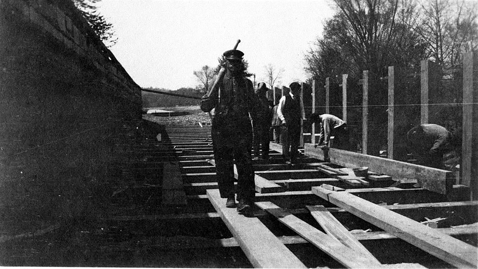 Conococheague Aqueduct repairs on Chesapeake and Ohio Canal