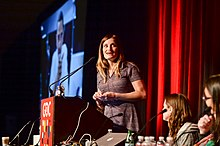 Constance Steinkuehler at the 2015 Game Developers Conference's 1ReasonToBe panel.jpg