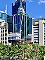 Construction of 80 Ann Street, State Law Building, 300 George, Brisbane seen from Wickham Park, April 2020.jpg