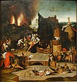 Copy of the Temptation of St. Anthony the Great by Hieronymus Bosch - Gemäldegalerie - Berlin - Germany 2017 (center panel).jpg