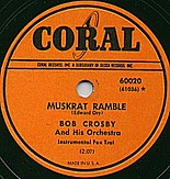 Coral Record label by Bob Crosby Band