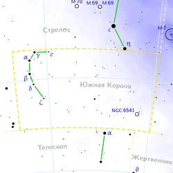 Corona australis constellation map ru lite.png