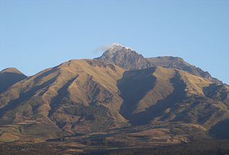 Imbabura Province - Cotacachi volcano as seen from the town of Cotacachi.