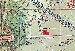 Cotroceni - Image: Cotroceni harta 1895