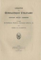 Pierre de Coubertin: Leçons de gymnastique utilitaire