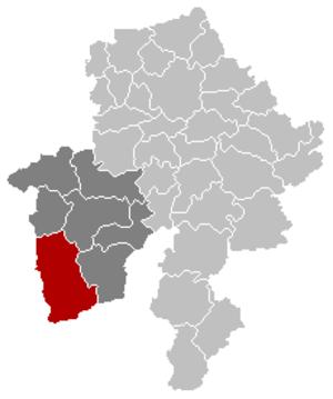 Couvin - Image: Couvin Namur Belgium Map