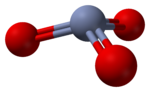 Ball-and-stick model of the DFT-calculated structure of the CrO3 monomer