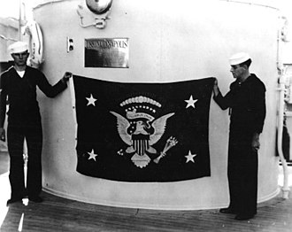 Flag of the President of the United States - The flag being displayed in 1936