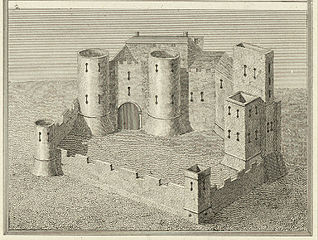 Crickhowel Castle. From a Survey in the beginning of the 16th Cent