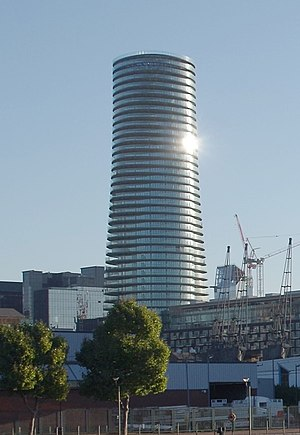 Arena Tower - Image: Cropped image of Baltimore Tower 30435639090 bf 141ef 3b 1 o