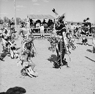 Crow Fair - Dancers at Crow Fair in 1941