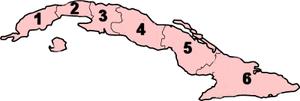 Provinces of Cuba - Image: Cuba Subdivisions 1