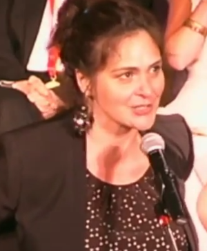 Cusi Cram - Cram presenting at the Lilly Awards in 2015